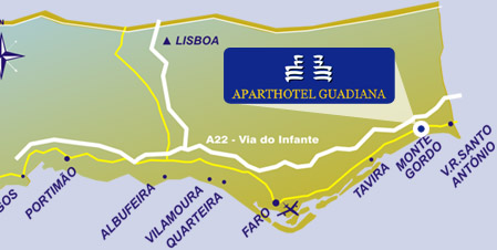 mapa de monte gordo algarve Aparthotel Guadiana   Apartments   Hotel Hotels Monte Gordo  mapa de monte gordo algarve